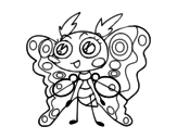 Clothing moth coloring page