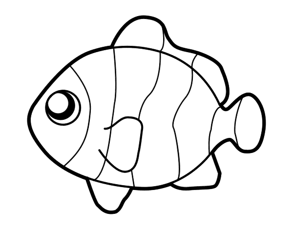 Clownfish Coloring Pages Clown Fish Coloring Pages