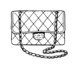 Clutch Chanel coloring page