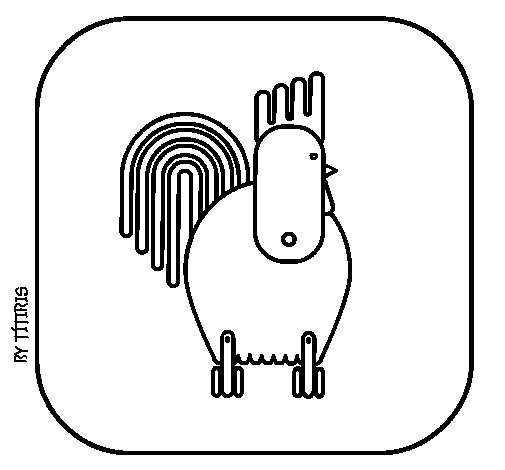 Cock 4 coloring page