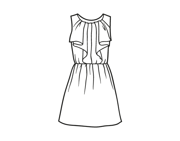 Cocktail Dress Coloring Page