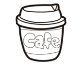 Coffee glass coloring page