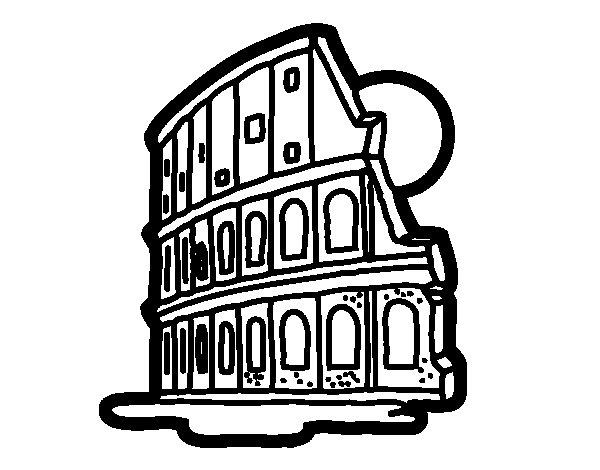 Coliseum coloring page
