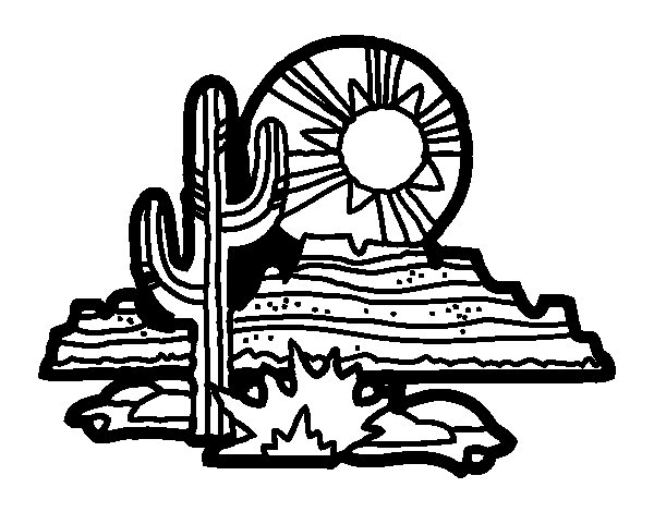 Colorado Desert coloring page