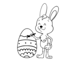 Coloring easter egg coloring page