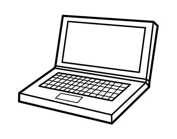 Computer Laptop Coloring Page