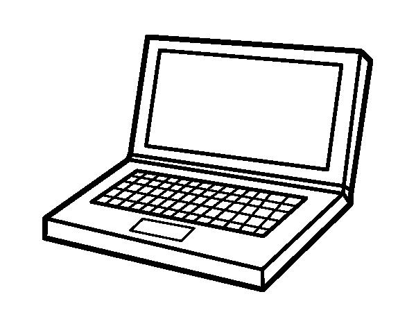 Computers coloring pages ~ Computer laptop coloring page - Coloringcrew.com