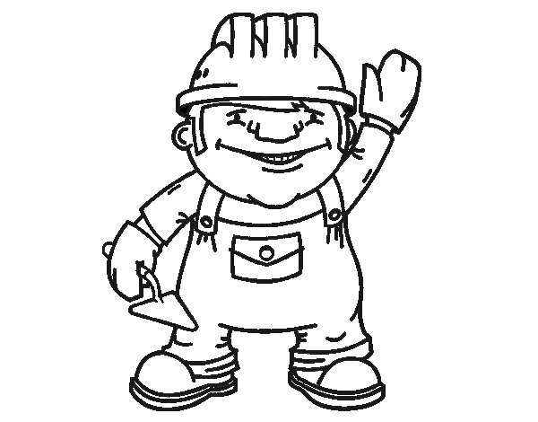 construction worker coloring page - Construction Worker Coloring Page