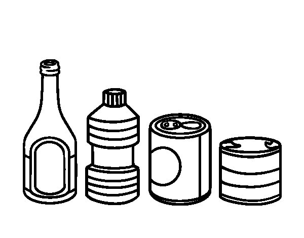Container Recycling coloring page