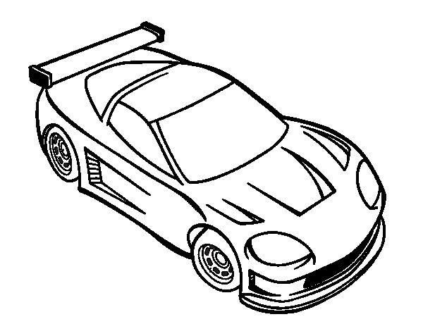 Contemporary car coloring page