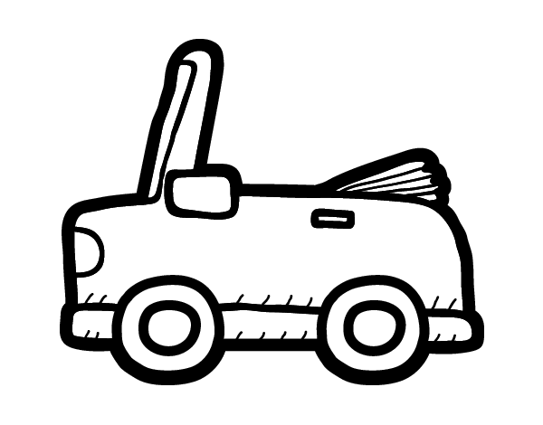 Convertible car coloring page for Convertible car coloring pages