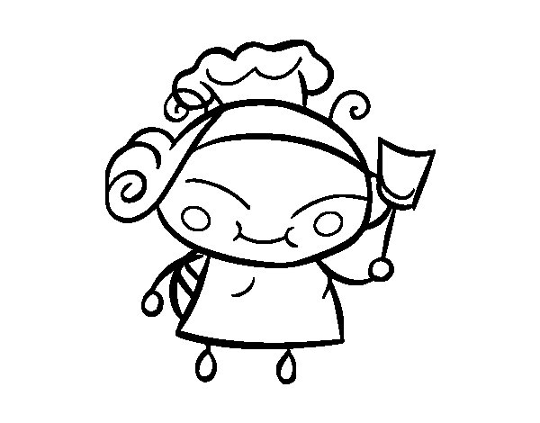 Cook bee coloring page