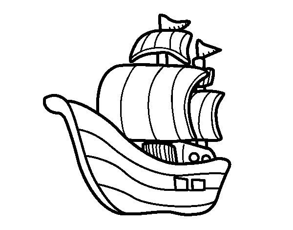 Corsairs boat coloring page