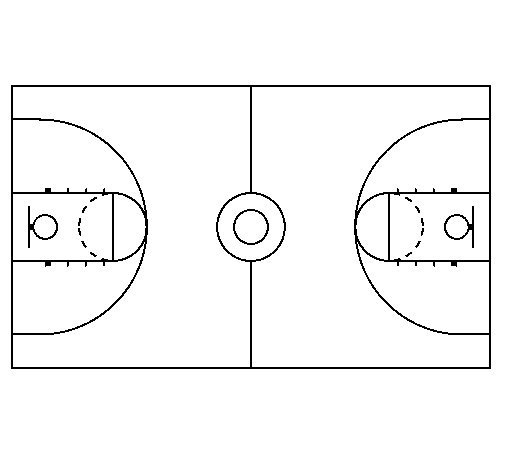 Court coloring page