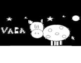 Dibujo de Cow and star