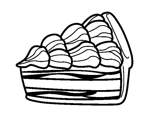 Cream cake coloring page