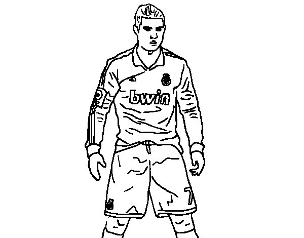 Cristiano Ronaldo Real Madrid coloring page
