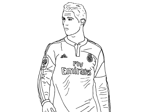 soccer coloring pages ronaldo hair - photo#5