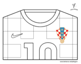 Croatia World Cup 2014 t-shirt coloring page