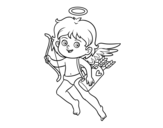 Dibujo de Cupid with his magic bow