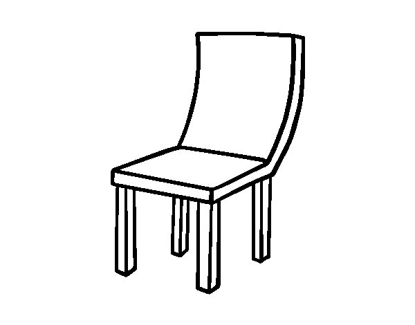 Curve Chair coloring page