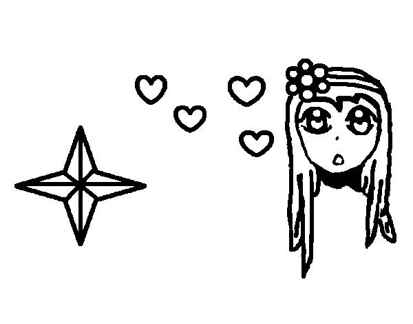 Cute princess coloring page