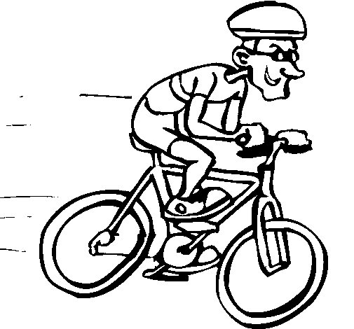 Cycling coloring page