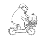 Dibujo de Cyclist bear