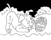 Dibujo de Dalmatian playing