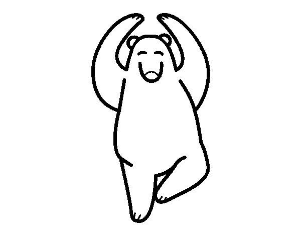 Dancing bear coloring page