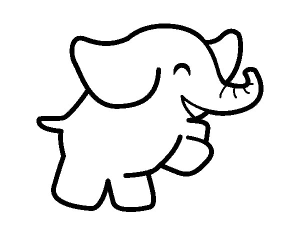 Dancing elephant coloring page