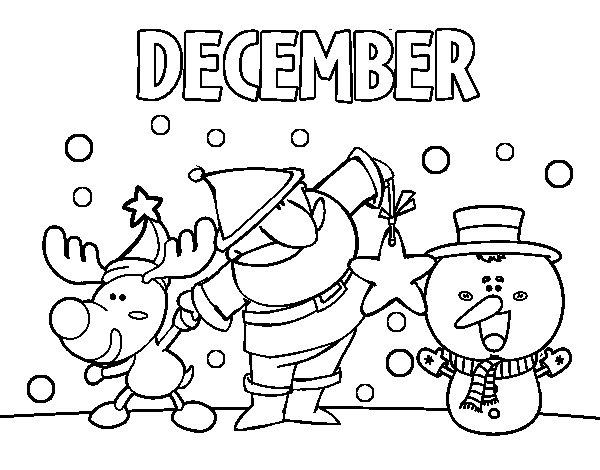 December coloring page Coloringcrewcom
