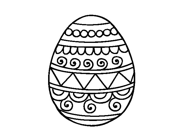 Decorated Easter egg coloring page Coloringcrewcom