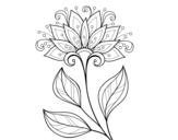 Dibujo de Decorative flower