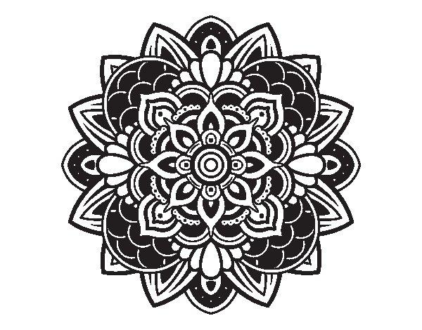 Decorative mandala coloring page