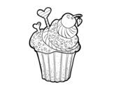 Delicious Cupcake  coloring page