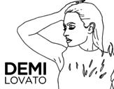 Dibujo de Demi Lovato Confident