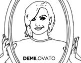 Demi Lovato Popstar coloring page