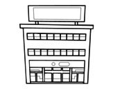 Department store coloring page