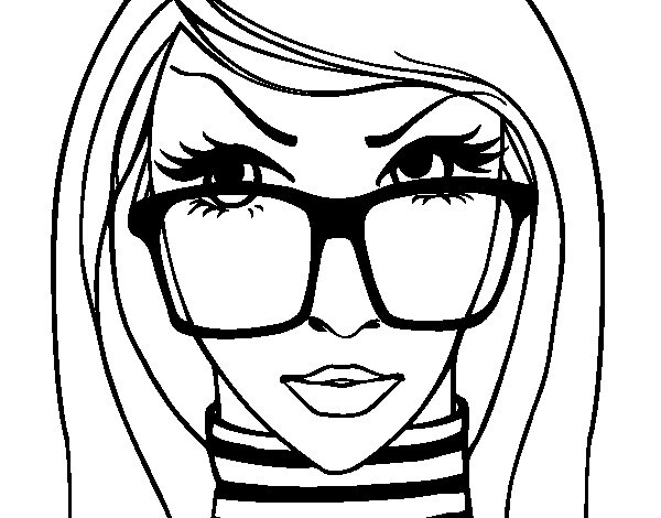 Designer coloring page