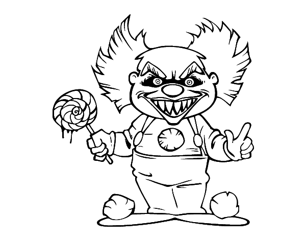 Clown Coloring Pages Adults
