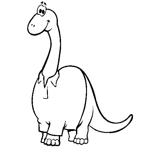 Diplodocus with shirt coloring page
