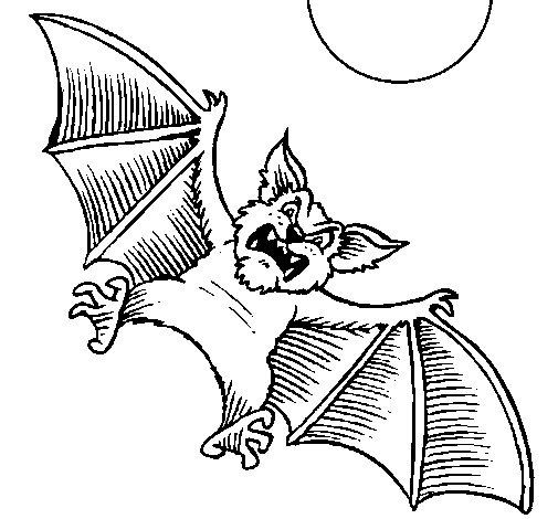 Dog-like bat coloring page