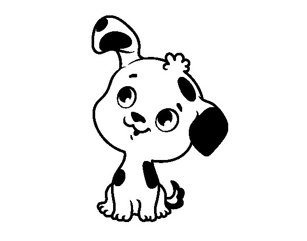 Dog puppy coloring page