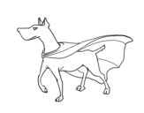 Dog superhero coloring page