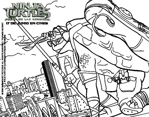 Donatello Ninja Turtles coloring page