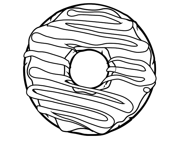 coloring pages donuts - donut coloring page
