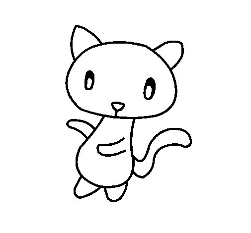 Doodle the cat coloring page