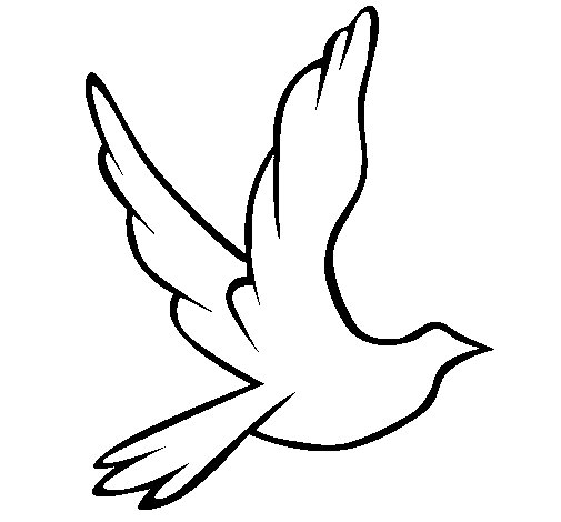 Dove of peace in flight coloring page
