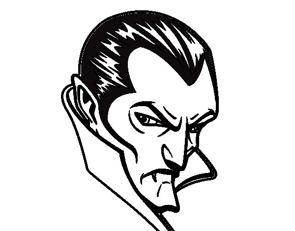 Dracula profile coloring page
